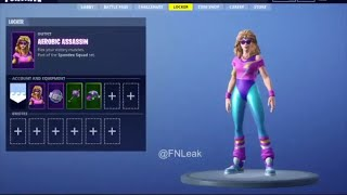 FORTNITE: NEW Leaked Skins | MULLET MARRAUDER & AEROBIC ASSASSIN!