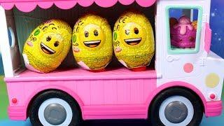 Num Noms • Autobus i Jajka Niespodzianki Emotki • bajka po polsku