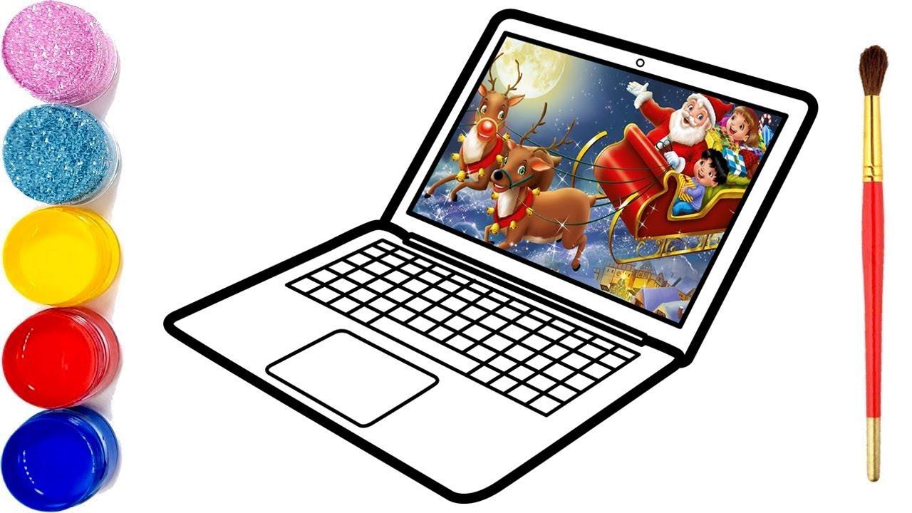 Glitzer Laptop 3d Zeichnung Und Malvorlagen Für Kinder Youtube