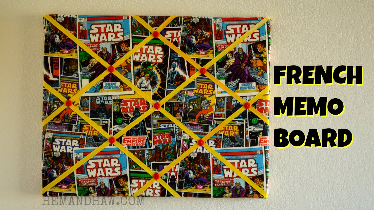 How To Make A French Memo Board Diy Ribbon Bulletin Board Youtube