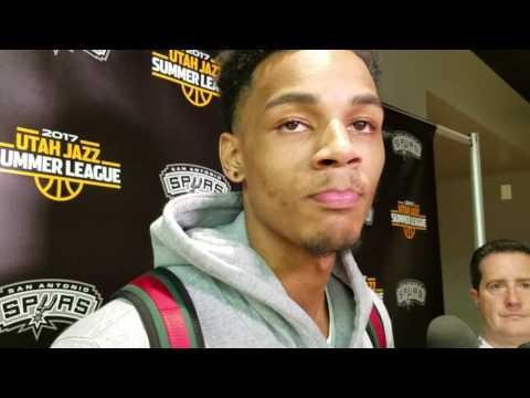 DeJounte Murray Utah Summer League Post Game vs Jazz 7/3/17