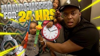 Hand Cuffed To MY ENTIRE FAMILY For 24 Hours !!!