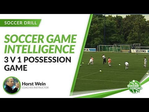 Developing Game Intelligence In Youth Soccer | 3v1 Possession Game