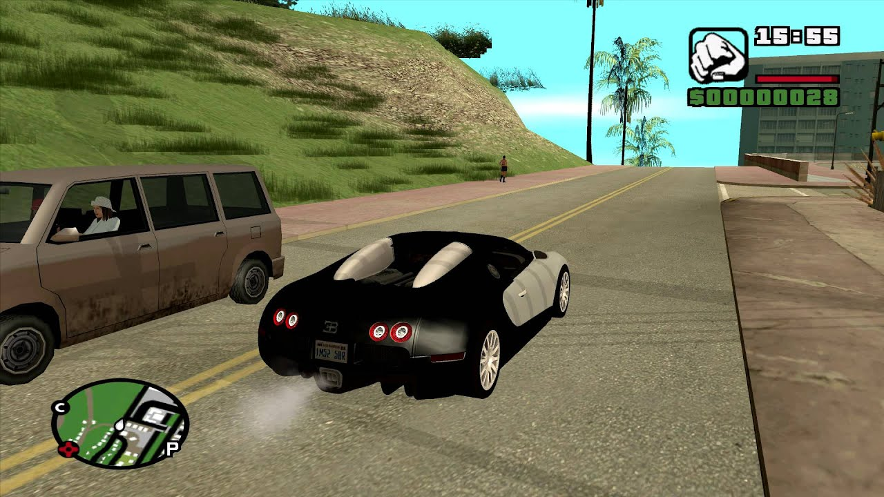 bugatti veyron 16 4 gta san andreas car mod youtube. Black Bedroom Furniture Sets. Home Design Ideas