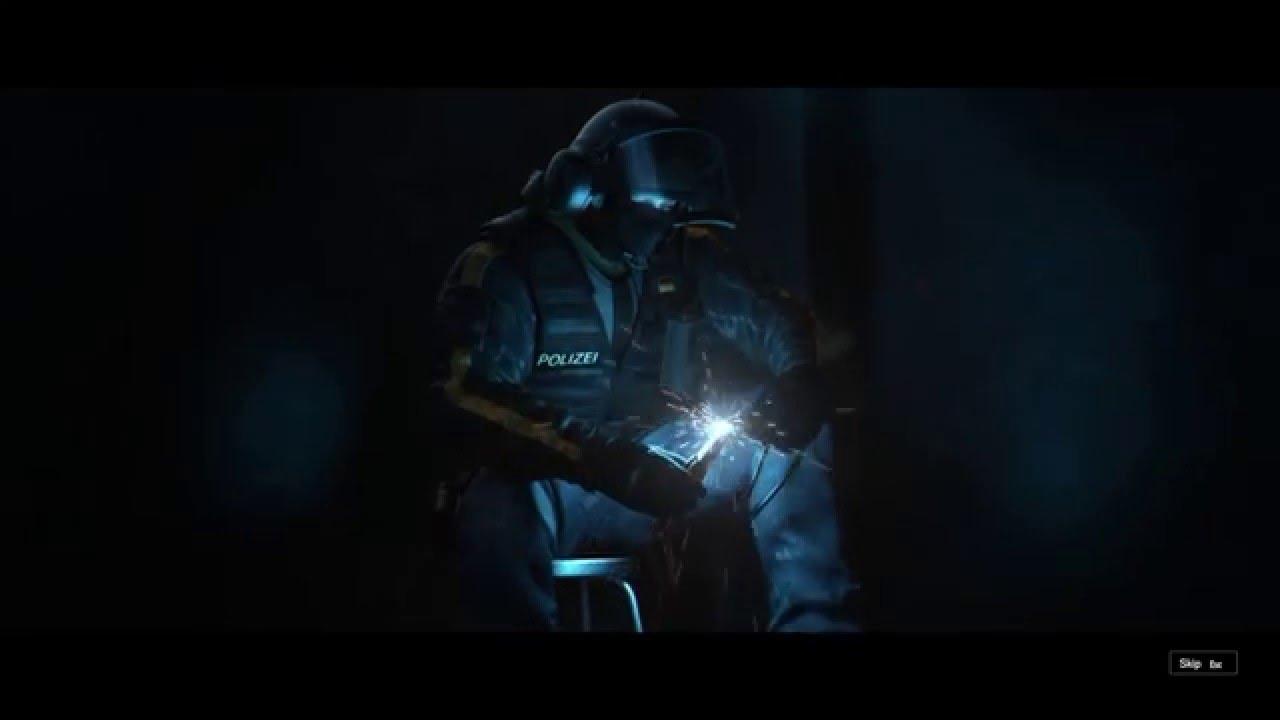 rainbow six siege bandit cut scene youtube