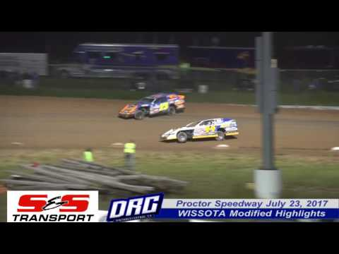 Proctor Speedway 7/23/17 WISSOTA Modified Highlights