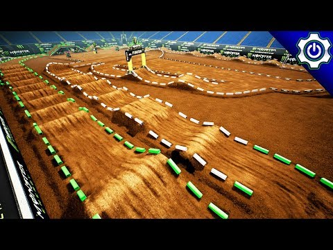 Monster Energy Supercross - Track Editor - Building My First Track!