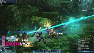 Phantasy Star Online 2 (PC, PS4, PS Vita) - PS4 Closed Beta Test Gameplay