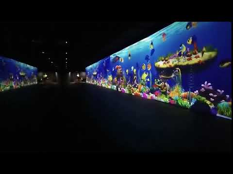 Indoor Magic Virtual Ocean Fish World Interactive Wall Game For Kids