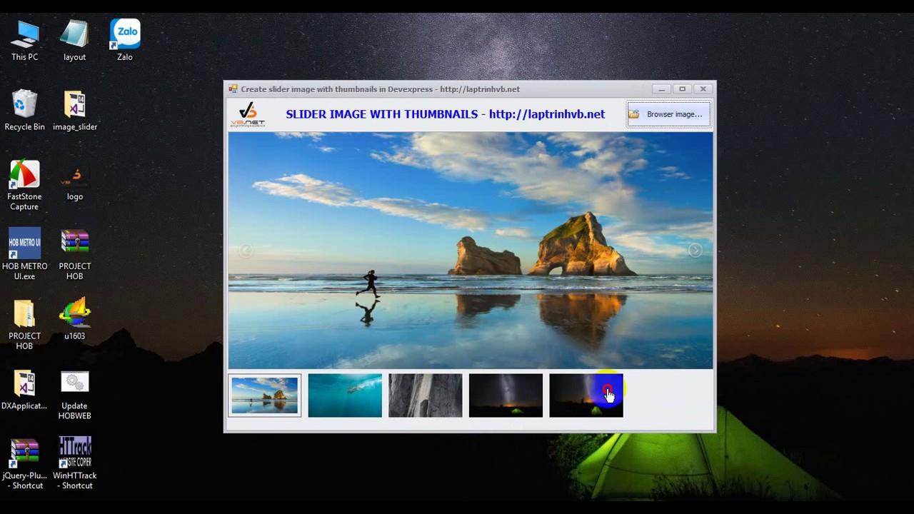 [DEVEXPRESS] CREATE IMAGE SLIDER WITH THUMBNAIL VB NET