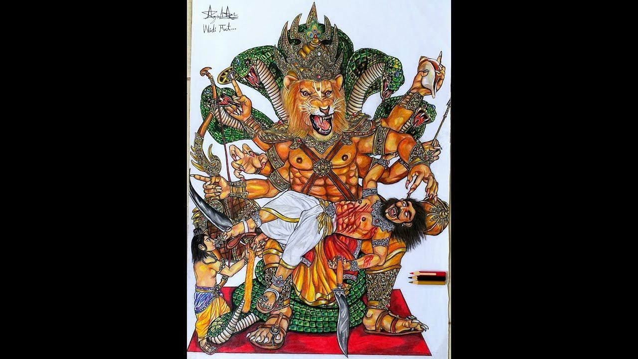 Sket Gambar Ogoh Ogoh PAKSI IRENG Banjar Gemeh Dengan Pensil