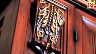 San Marco Dark Walnut 2 Door Dining Display Cabinet BAK-EXC-SAN-MARCO-DSET-WAL-4000