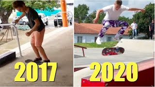 My 3 Years Of Skateboarding Progression (Flow Glows Up)