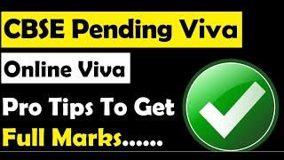 Cbse Viva I Tips for Viva I Viva me yeh galtiyan na karen I Viva full marks kaise ayenge I viva ques