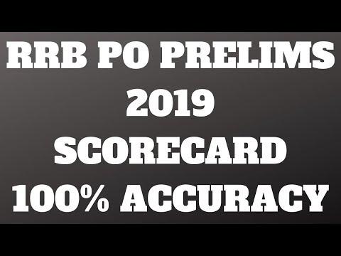 RRB PO SCORECARD 2019 || 100 % ACCURACY