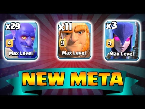 3 Max Witch 29 Max Bowler 11 Max Giant | New Meta Ground Army 3 Star Th12 | New Th12 War Style 2018
