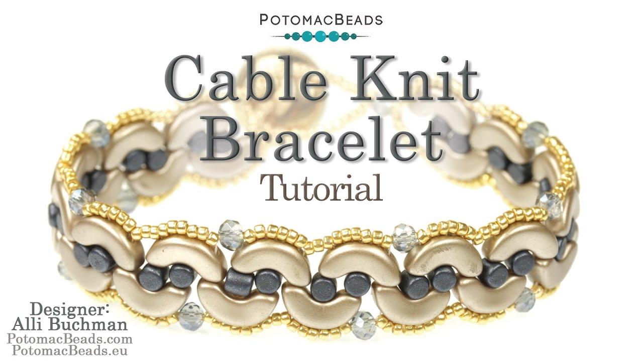 Cable Knit Bracelet (Tutorial) - YouTube