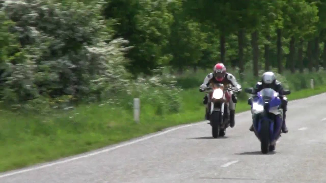 ducati monster s4 vs honda cbr600rr - youtube