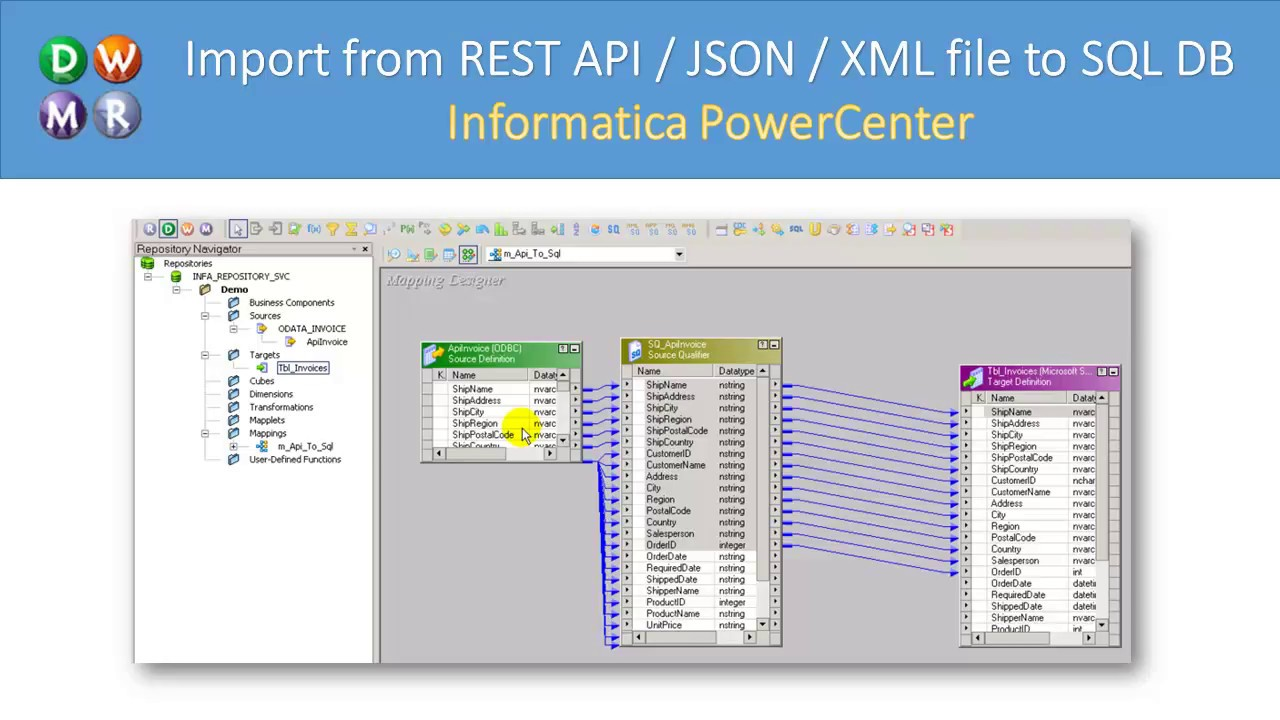 Informatica - Read from REST API / JSON File and load to SQL (XML SOAP,  OData, OAuth, Pagination)