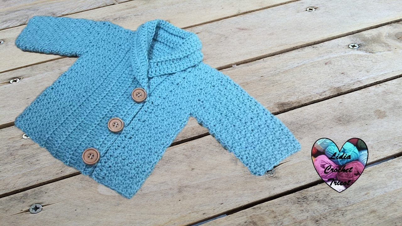 1c9c644ff8c7c Crochet jacket unisex all sizes (english subtitles). Lidia Crochet Knitting