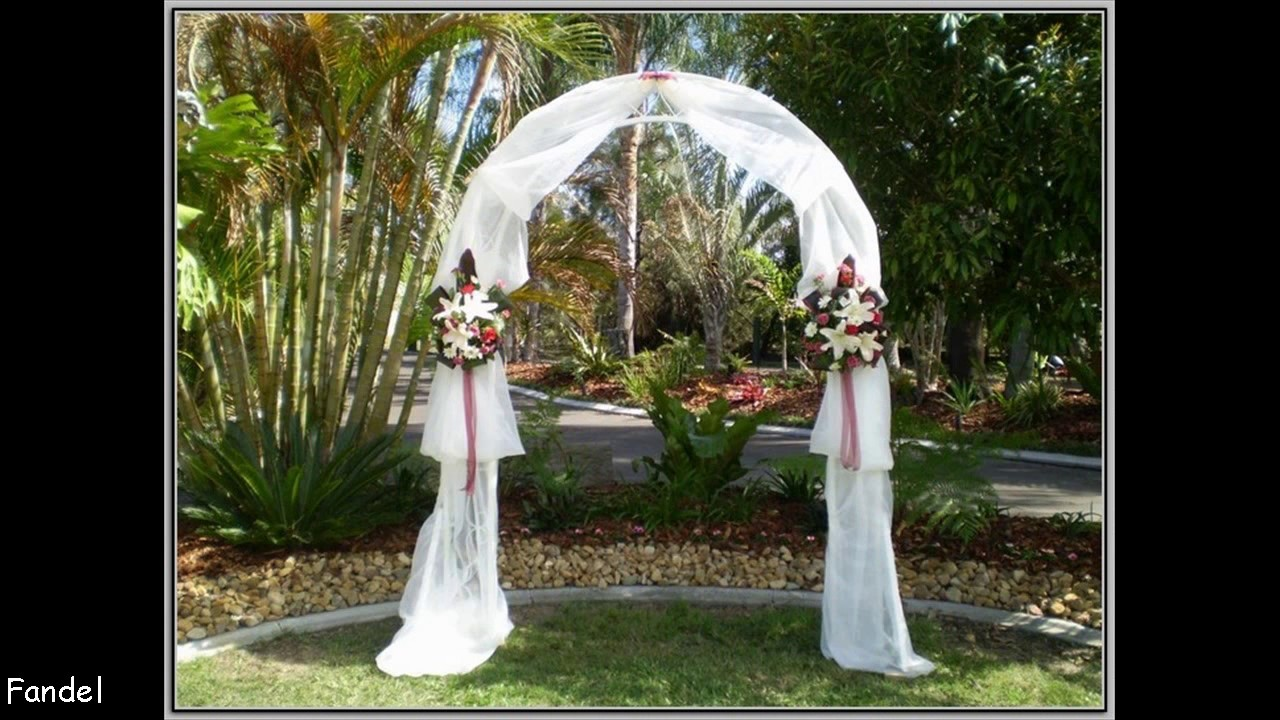 DIY Wedding Arch Decorating Ideas - YouTube