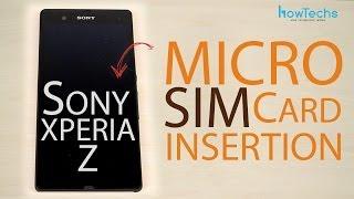 Sony Xperia Z Micro SIM card insertion