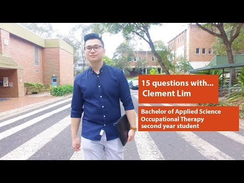 15 questions with Clement Lim - Bachelor of Applied Science (Occupational Therapy) student