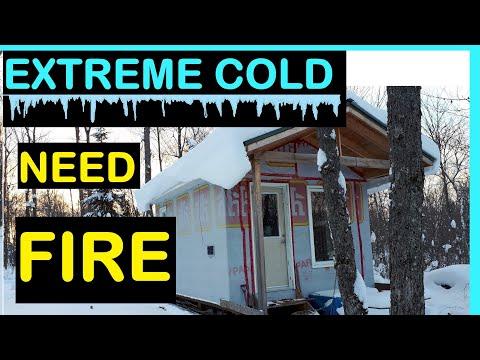 Cabin Life  Ep 15 Ferro Rod - Dangerously Cold & Needing Fire - Bush craft style Part 1