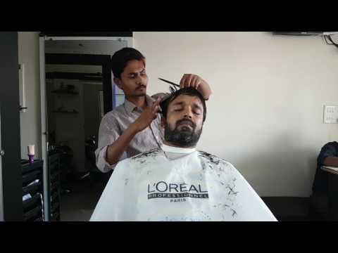 ASMR scissor hair cut and beard trim no talking