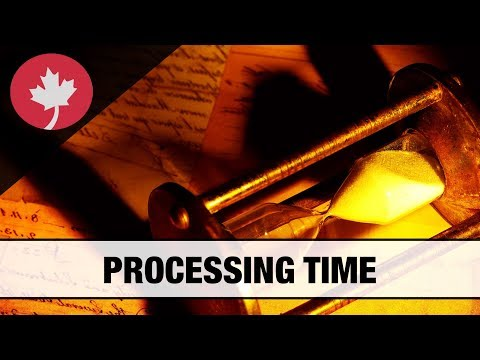 Processing time of Canadian immigration applications
