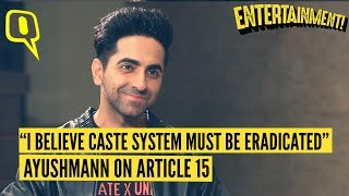 Ayushmann Khurrana on Why Article 15 Is an Important Film for Indian Cinema | The Quint