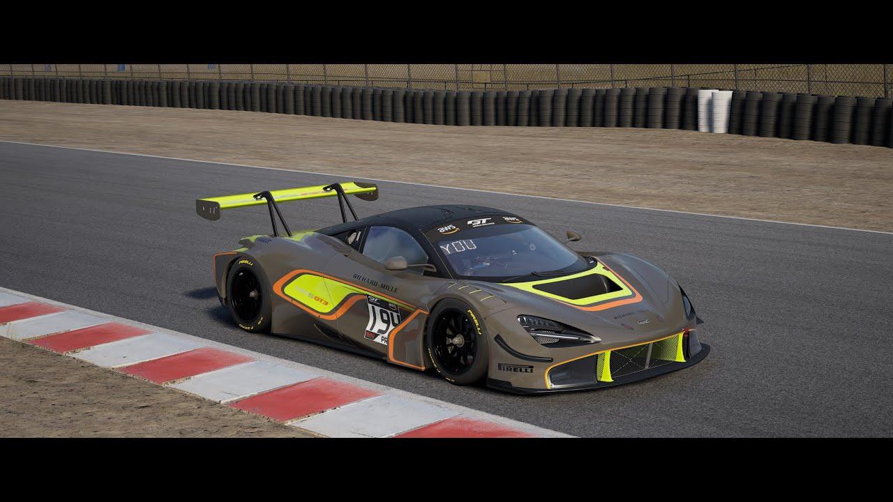 Assetto Corsa Competizione/ Quick Race @ Laguna Seca / McLaren 720s GT3 / W Setup / AI@97 AGG@96