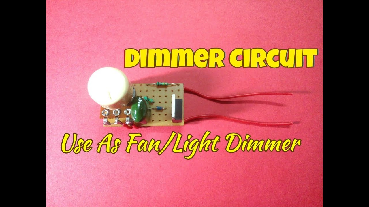 dimmer circuitusing triac and diacuse this circuit as light fan