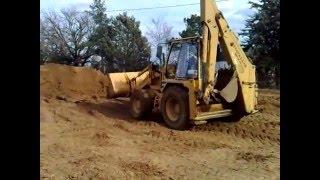 same silver 180 movimento terra e fiatallis fb7b affonda tractor stuck mud