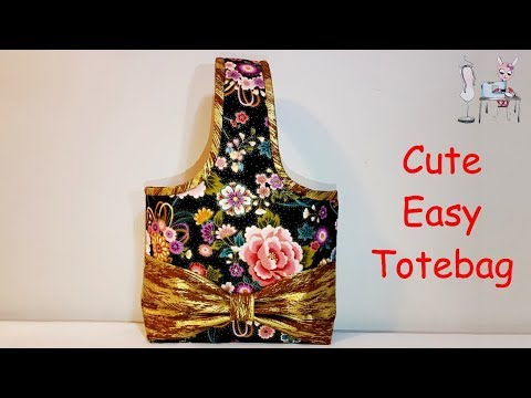 TOTE BAG   CUTE BAG   HANDBAG   DIY BAG   BAG SEWING TUTORIAL   coudre un sac   Bolsa de bricolaje