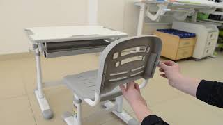 Комплект парта і стільчик Evo-Evo kids-06 - інструкція по регулюванню