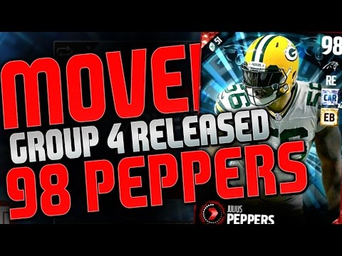 NEW 98 OVERALL JULIUS PEPPERS OUT IN GROUP 4 MOVERS! GIVEAWAY WINNERS ANNOUNCED!
