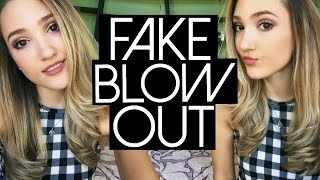 How to Fake A Blowout | Easy Loose Waves with a Straightener!