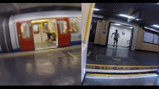 Raw uncut footage of Race The Tube - Sprint using a split screen to...