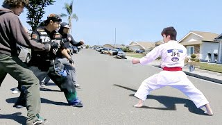 Taekwondo Master vs Bullies  Taekwondo in the Street