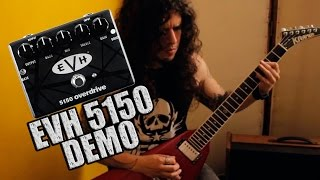 MXR EVH 5150 Overdrive Pedal Demo (1st attempt) - Charlie Parra