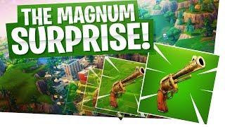 The Magnum Surprise! - Demolishing The Pistol Challenge! - Fortnite