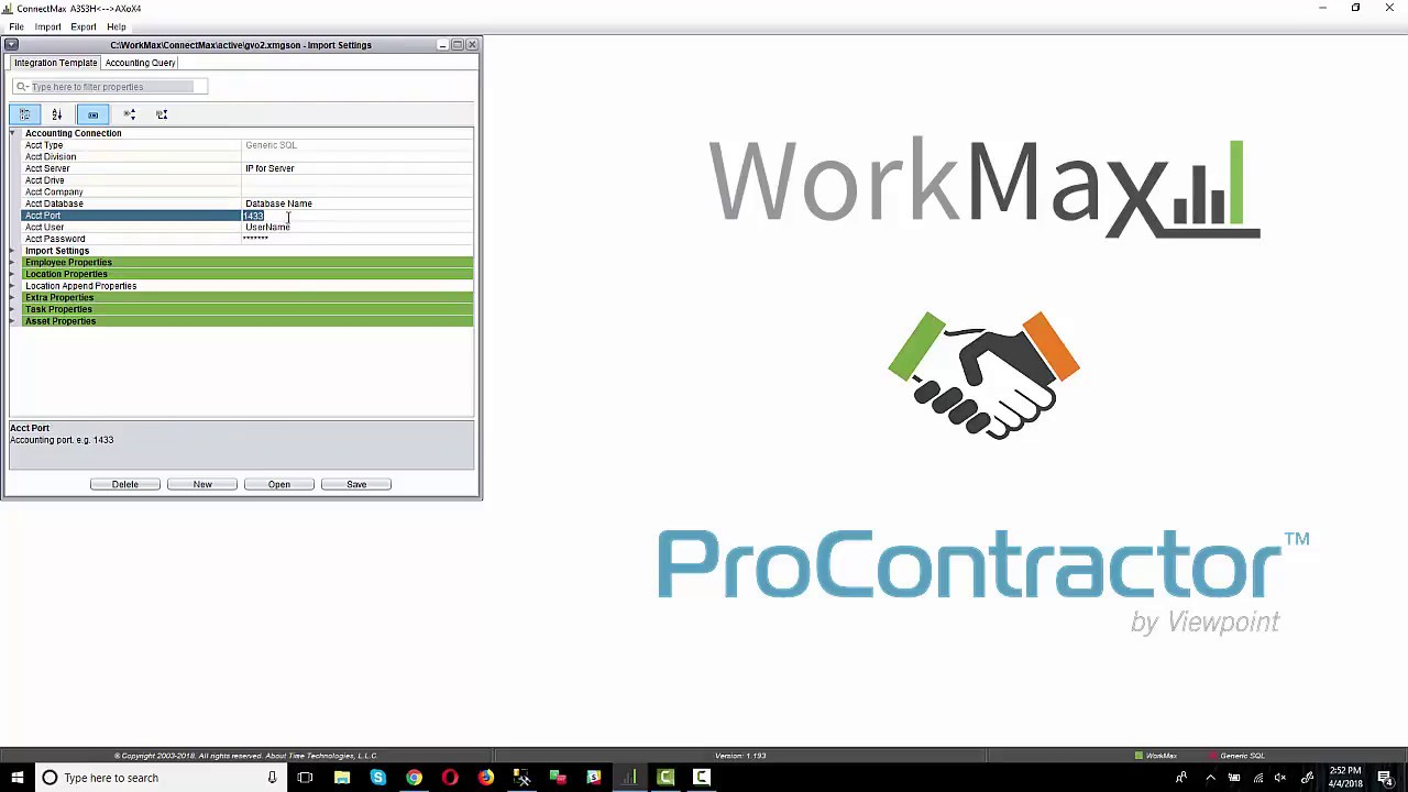 ProContractor by Viewpoint Integration with WorkMax - WorkMax