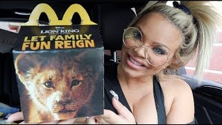 TRYING LION KING MCDONALD'S HAPPY MEAL