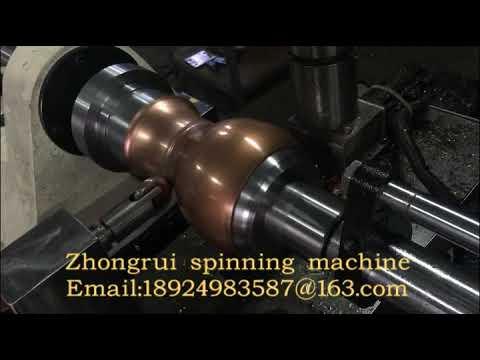 CNC metal spinning machine copper kettle spinning lathe art work process