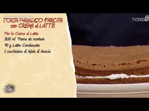 Torta paradiso farcita con crema al latte in due minuti
