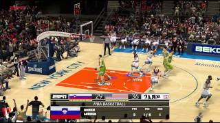NBA FIBA 2014│Slovenia vs USA Full Game 2k14 PC MOD