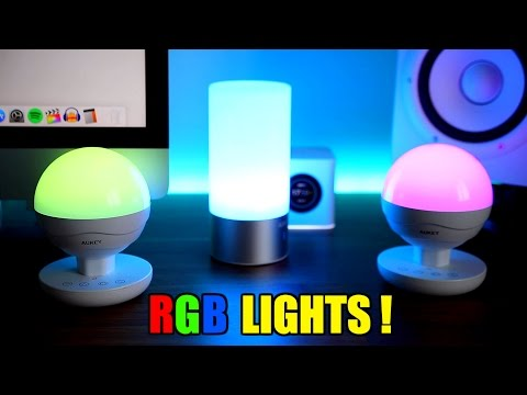 AUKEY RGB LED TABLE LAMPS !!!