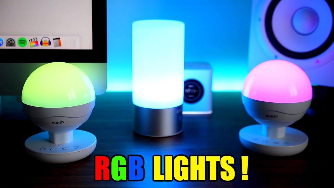 AUKEY RGB LED TABLE LAMPS !!! - YouTube
