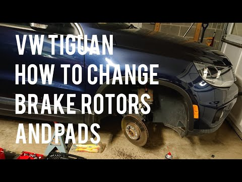 VW/Volkswagen Tiguan How to Change Replace Right Front Brake Pads and Rotors